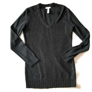 CHARTER CLUB BLACK sequenced tunic sweatet